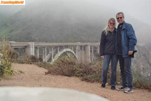 USA: Bixby und wir / 19. Tag: Bixby Bridge am Highway No. I