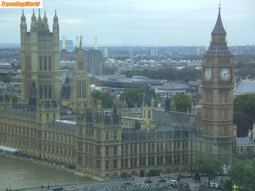 Großbritannien: London Eye d / Big Ben & The Houses of Parliament