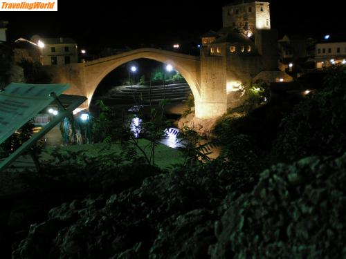Bosnien und Herzegowina: Stari Most / Mostar at night